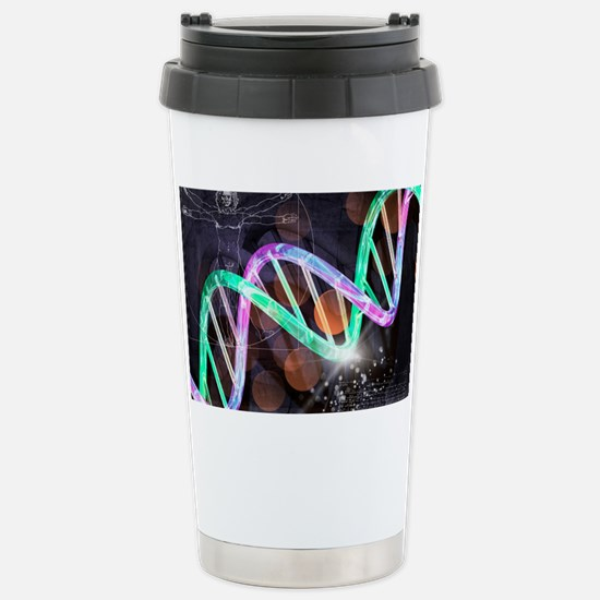 Genetics research, conceptual a Stainless Steel Tr
