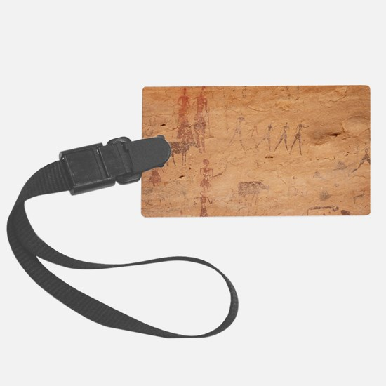 Pictograph of walking figures Luggage Tag