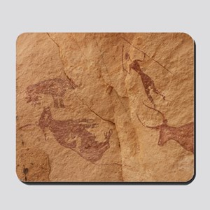 Pictograph detail of a Lion attack, Liby Mousepad