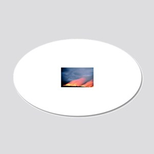 Steam rises as lava flows in 20x12 Oval Wall Decal