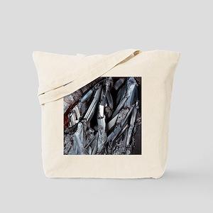 Stibnite crystals Tote Bag