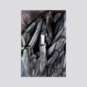 Stibnite crystals Rectangle Magnet