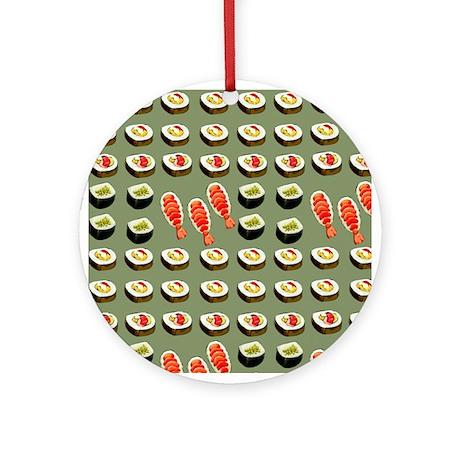 Sushi Platter Ornament (Round)