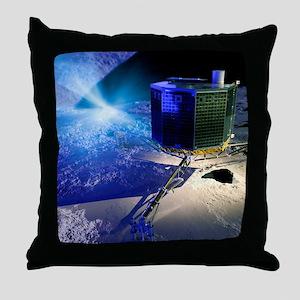 Philae lander Throw Pillow