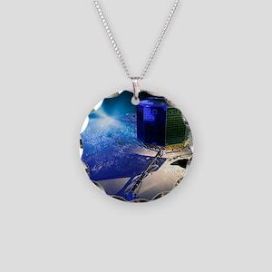 Philae lander Necklace Circle Charm