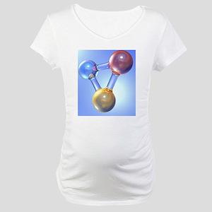 Generic molecule, artwork Maternity T-Shirt