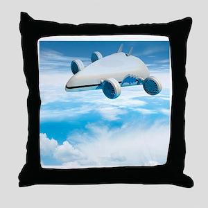 Futuristic airship, artwork Throw Pillow