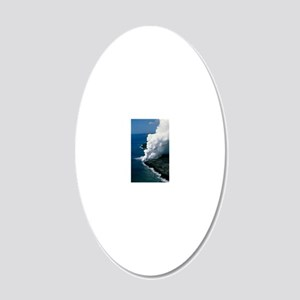 Steam rising as molten lava  20x12 Oval Wall Decal