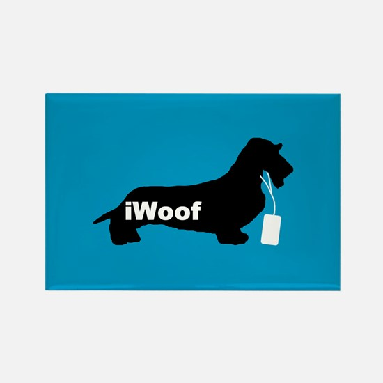 iWoof Dachshund Rectangle Magnet