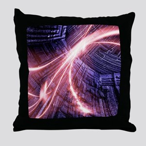 Particle accelerator Throw Pillow
