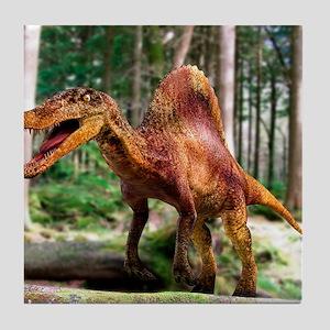 Spinosaurus dinosaur Tile Coaster
