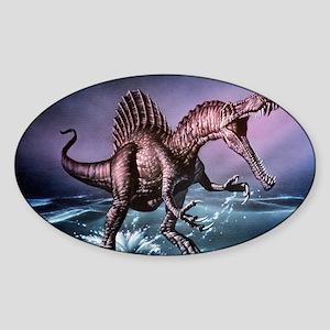 Spinosaurus dinosaur Sticker (Oval)