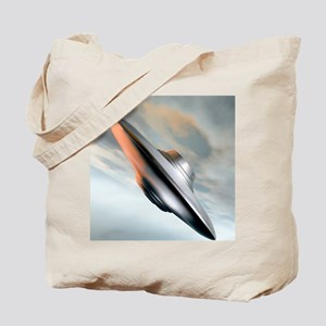 Flying saucer, artwork Tote Bag