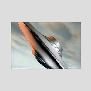 Flying saucer, artwork Rectangle Magnet