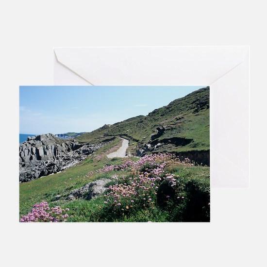 South West Coast Path, UK Greeting Card