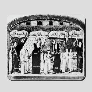 Paris hospital, 15th century Mousepad