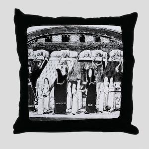 Paris hospital, 15th century Throw Pillow