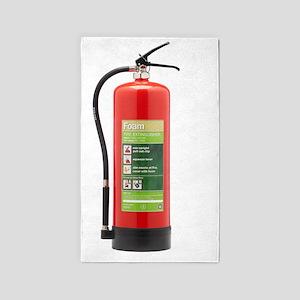 Foam fire extinguisher 3'x5' Area Rug