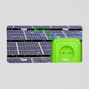 Solar power, conceptual ima Aluminum License Plate