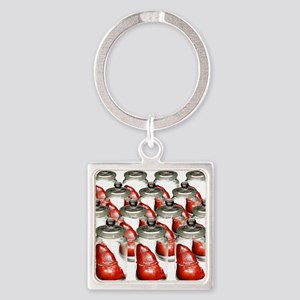 Spare livers, conceptual image Square Keychain