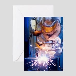 Oxy-acetylene cutting Greeting Card