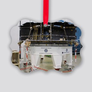 Spacecraft structure in cleanroom Picture Ornament