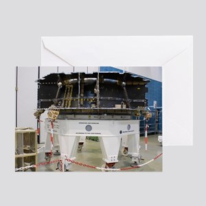Spacecraft structure in cleanroom Greeting Card