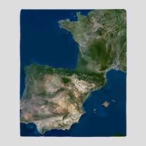 Spain and France Throw Blanket