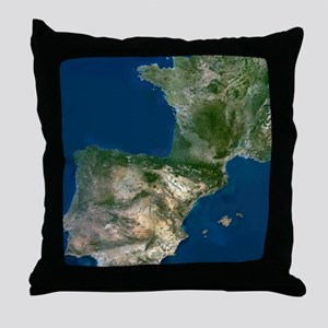 Spain and France Throw Pillow