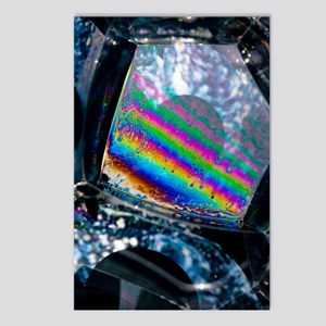 Soap bubble iridescence Postcards (Package of 8)