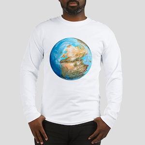 Pangea supercontinent, artwork Long Sleeve T-Shirt