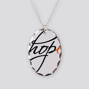 Hope Necklace Oval Charm