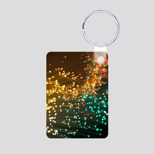 Fibre optics Aluminum Photo Keychain