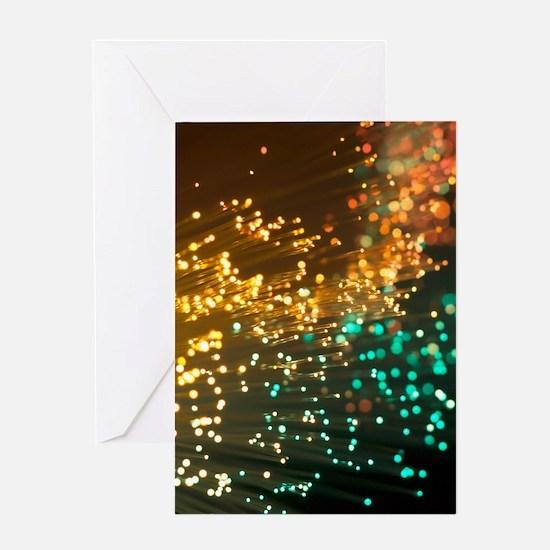 Fibre optics Greeting Card