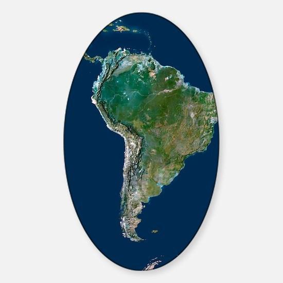 South America Sticker (Oval)
