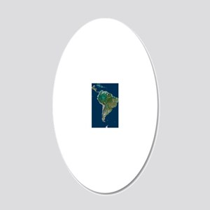 South America 20x12 Oval Wall Decal