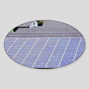 Solar panels Sticker (Oval)