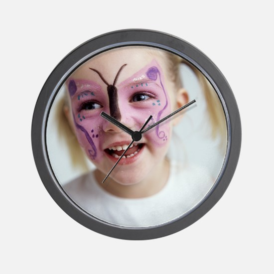 Face painting Wall Clock