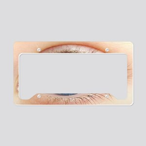Eye with radiation warning si License Plate Holder