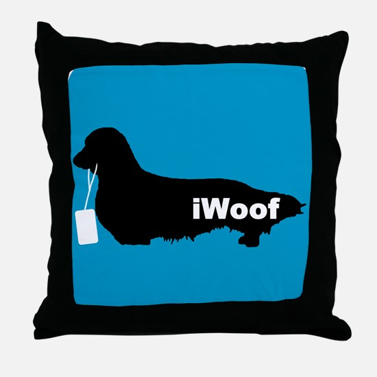 iWoof Dachshund Throw Pillow