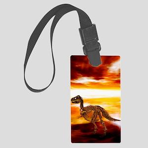 Extinction of the dinosaurs, art Large Luggage Tag