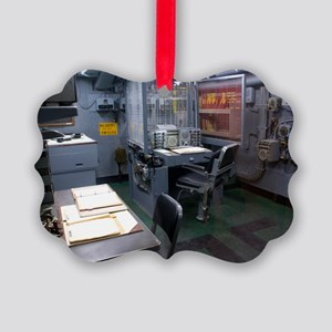 Operations room on USS Intrepid Picture Ornament