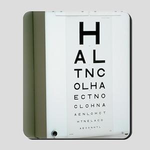 Eye chart Mousepad