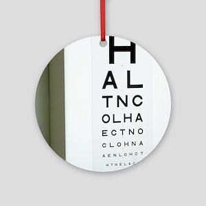 Eye chart Round Ornament