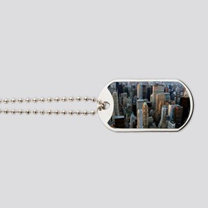 Skyscrapers, Manhattan, New York Dog Tags
