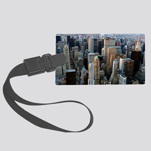 Skyscrapers, Manhattan, New York Large Luggage Tag
