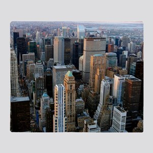 Skyscrapers, Manhattan, New York Throw Blanket