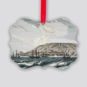 Old Sail ships Galapagos Island I Picture Ornament