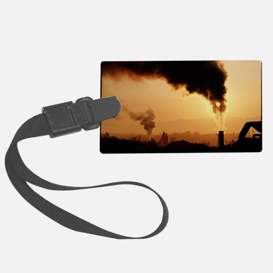 Smoke plume from asphalt plant Luggage Tag