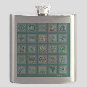 Celtic sampler for the bed Flask